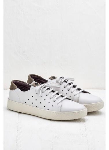 Elle Bağcıklı Ayakkabı Beyaz